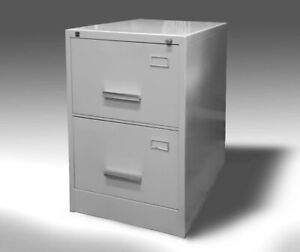 Retro metal Filing cabinet - 2 drawers
