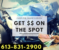 Scrap Car Removal CA$H FOR TRASH