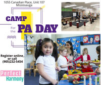 PA DAYs Camp Mississauga Brampton
