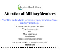 Dietetic/ Nutrition Services for Military Members