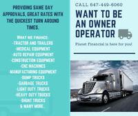 We Finance/Lease/Refinance Trucks, Trailers, Heavy Equipment