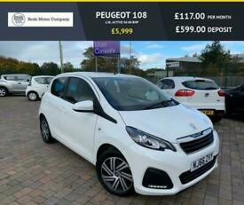 image for 2016 Peugeot 108 1.0L ACTIVE 5d 68 BHP Hatchback Petrol Manual