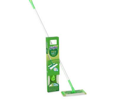 Swiffer Sweeper, Dry and Wet Floor Mop 11 Piece Starter Kit