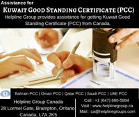 Kuwait Good Standing Certificate (PCC) From Canada
