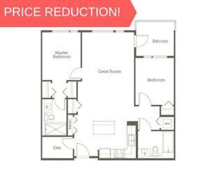 PRICE REDUCTION! 2 Bed + Den Assignment