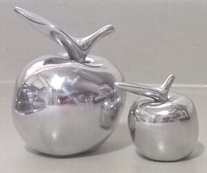 Vintage Hoselton Apples - Mid Century Aluminium Sculpture Fruit