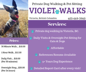 Experienced Dog Walker Taking New Clients! Victoria, BC