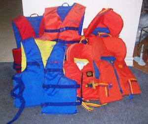 LIFE JACKETS  --  KIDS AND ADULTS