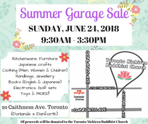 ANNUAL Summer GARAGE SALE
