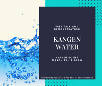 FREE Talk and Demonstration of the Kangen Water!
