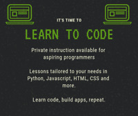 Learn to Code! Private lessons for beginners of all ages