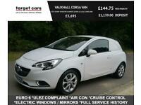 2016 Vauxhall Corsavan 1.3 CDTI 95BHP SPORTIVE VAN WHITE EURO 6 ULEZ COMPLAINT C