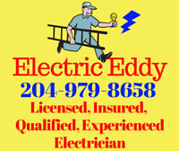 Electric Eddy - Certified - Insured - 204-979-8658 Electrician