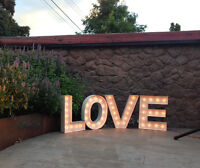 LOVE Iluminated Marquee Letters