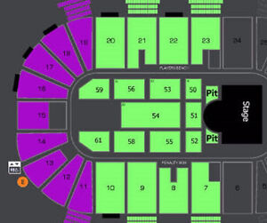 AMAZING RASCAL FLATTS FRONT FLOOR AND PIT TICKETS !!!