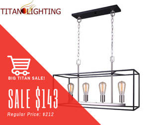 HUGE SALES EVENT ON ALL CHANDELIERS & PENDANTS @ TITAN LIGHTING!