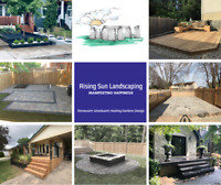 Stonework, Woodwork, Softscaping -  Rising Sun Landscaping