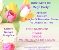 Mega Party! Everyone is Welcome! Prizes, Samples, Demos!