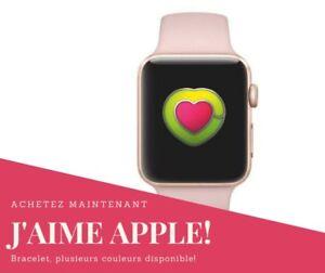 bracelet sport 38mm pour Apple Watch en Caoutchouc Souple