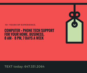 Tech Support for Realtors On the Go!  Local to eastern NL.