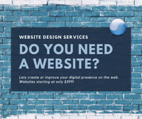 Professional Website Design Services - Starting at only $399