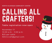 NKCC Craft Sale vendors wanted