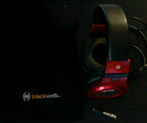 Black Web headphones