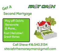 ➽Need Money??➽2nd Mortgage➽Call StevieB TheMoneyMan 416.540.3134