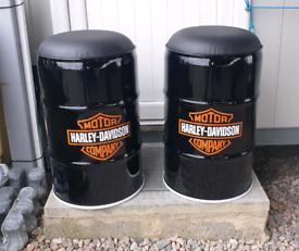 Harley Davidson stool seats chairs oil drum clocks & furniture