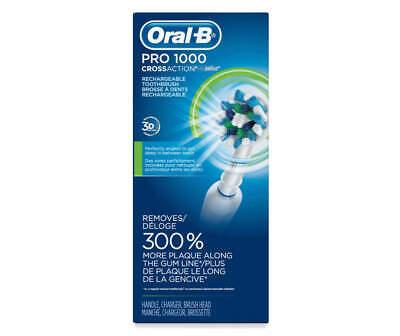 Oral-B 1000 CrossAction elektrisk tandbørste, hvid, drevet af Braun