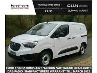 2019 Vauxhall COMBO CARGO 2000 1.6 Turbo D Edition White Van With Air Conditioni
