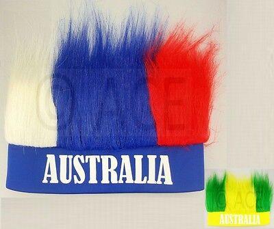 Aussie Australia Day Australian Fan Headband Wig Fancy Party Costume Sports ](Costume Wigs Australia)