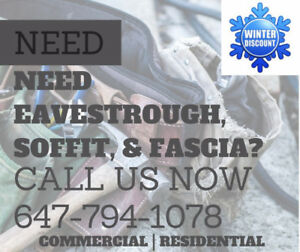 NEED EAVESTROUGH, SOFFIT, FASCIA IN AJAX? RESIDENTIAL ROOF