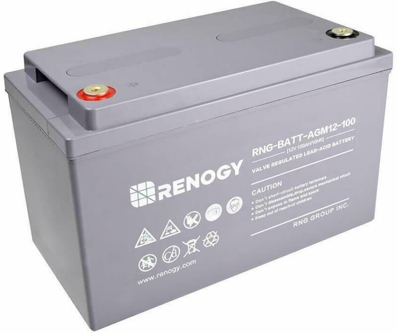 Renogy Deep Cycle AGM Battery 12 Volt 100Ah for RV Solar Mar