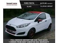 2016 Ford Fiesta 1.5TDCI Zetec S Style White Van With Red Roof (Euro 6) CAR DERI