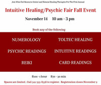 First Annual Intuitive Healing and Psychic Fair