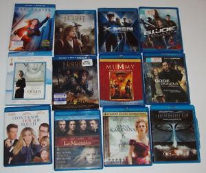 DVD et BLU-RAY, LOT de 87 FILMS et SÉRIES