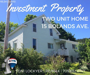 2 UNITS 15 Bolands Ave. Corner Brook (Curling) PRICE REDUCED