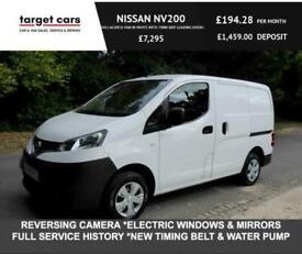 2016 Nissan NV200 1.5DCI ACENTA VAN IN WHITE WITH TWIN SIDE LOADING DOORS CAR DE