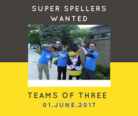 Team of 3 for Spelling Bee