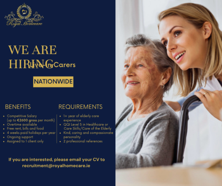 Live-in Caregiver - Excellent Salary and Hours