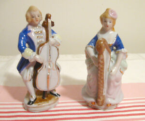 Couple de musiciens style colonial Made in Japan