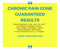 Suffering with Chronic Pain?  get rid of it now!