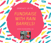 Raising Money Is Easy This Spring With Rain Barrels