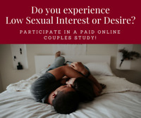 Couples research  – men experiencing low sexual desire