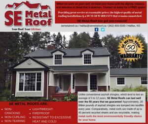Metal Roof Installation Worker