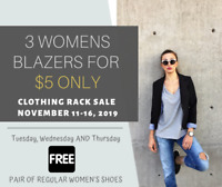 *Next Weeks Special* ---> 3 Women's Blazers for $5 ONLY!!!