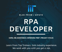 Become an RPA Developer within weeks! 100% Job Assistance!