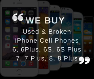 We Buy Used / Broken iPhone & Samsung Phones
