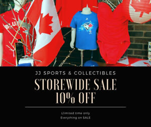 10% OFF everything at JJ Sports & Collectibles